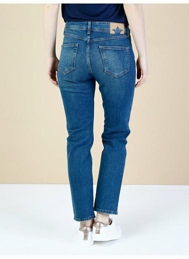 Colin's Colins 891 Maya Slim Fit Yüksek Bel Kısa Paça Denim Kadın Jean Pantolon Lacivert